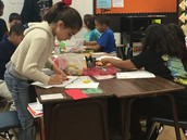 Kiddos in Mr Yeager's class use manipulatives for hands-on math lessons.
