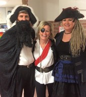Pirates at Reading Night at Eugene Field