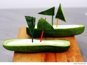 Cucumber Boats with Spiced Yogurt