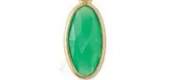OVAL BIRTHSTONE CHARMS- MAY