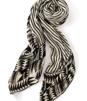 Union Square Scarf in Black and White