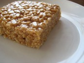 Peanut butter rice crispy bars.