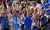 Greek sport fans