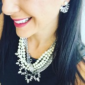 Starburst earring jackets-come with 2 pairs of studs! Paired with the Starlet Necklace!!!