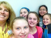 Lunch & Sharing Ideas about Washington with 5th Graders