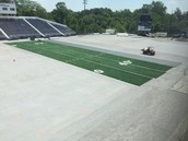 New Football Field Turf is being installed!!!