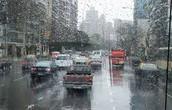 Llueve un poco en Buenos Aires.