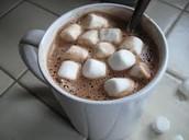 Hot chocolate w/ marshmellows