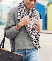 Union Square Tribal Scarf Black/ Cream Was £45 Now £22.50