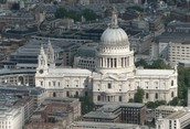 High angle view of St. Paul's Cathedral