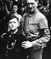 Hitler Posing With a Proud Member of the Hitler Youth.