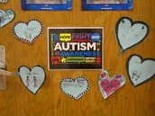 Teachers and students decorated their classroom doors for Autism Awareness.