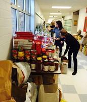 Food donations were abundant.