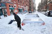Car Stuck due to Snow
