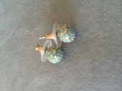 Soiree Studs- Turquoise $15 SOLD!!!