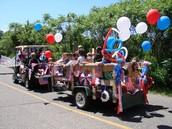 El desfile de cuatro de Julio.