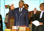 Mandela during inauguration