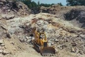 Mica Being Mined With A Dozer