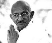When Gandhi was praying.