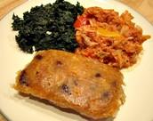 Antiguan food with salt fish