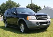 Black Ford Explorer 2002