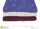 folded sweaters