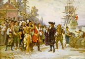 William Penn landing in a new country