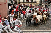 Tourists Attractions: Running of the Bulls