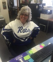 Mrs. Douglas showing her Roo Pride!