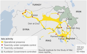 regions that are under the control of ISIS