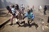 Kenyan slum (violence)