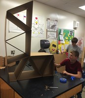 STEM Sophomores just finished creating innovative cardboard furniture for our STEM classrooms!