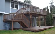Real wood decks