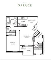 One Bedroom One Bath 767 square foot apartment is COMING SOON!! January 2015