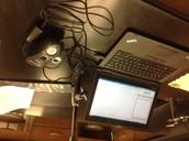 Colorimeter and computer.