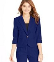 Junior azul traje de negocios