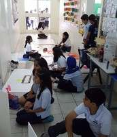 Grade 5 Students hard at work on their projects