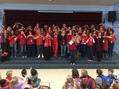 Boone staff wears red for Women's Heart Health day.