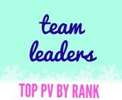 Top Sales by Rank - Team Leaders