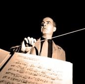 Samuel Barber Composing.