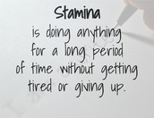 What is stamina?