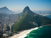 A picture of the city and the Sugarloaf Mountain