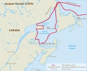 Jaques Cartier's Route