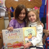Thanks to former First Grade student Caitlyn for being a Mystery Reader!