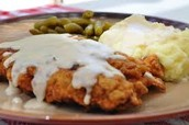 Chicken fried Steak with 2 sides