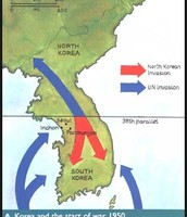 Map during the Korean War