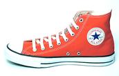 Red Hightop sneaker