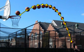 The Path of this basketball is a parabola