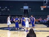 Boys basketball team earns a win at the Cedar Park Center!