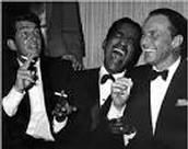 Sammy Davis Jr. with Dean Martin and Frank Sinatra